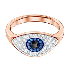 DUO:RING EVIL EYE DMUL/ROS 55