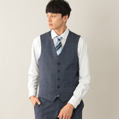 TROTTER extresolid WAISTCOAT ウィンドウペンストレッチ