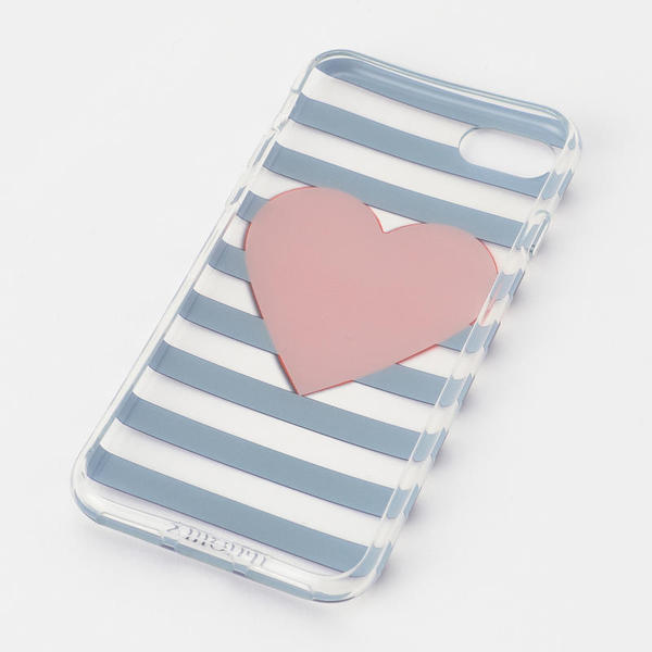 Stripy Heart Transparent for iPhone 7/8