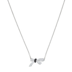 MADEMOISELLE:NECKLACE JET/CRY/RHS