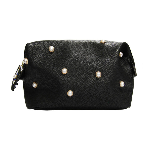 Washbag - Pearl Black with Eyes Charm