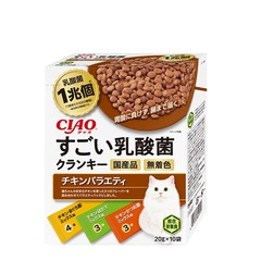CIAOすごい乳酸菌クランキー チキンバラエティ20g×10袋