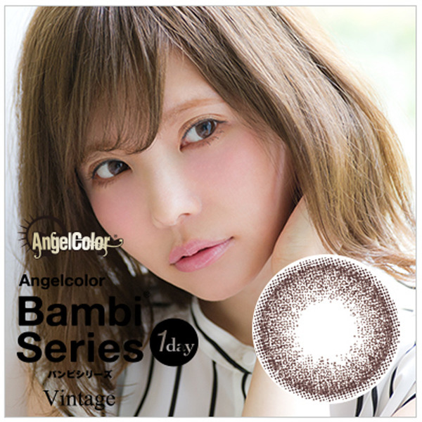 Angelcolor Bambi Series Vintage 1day 1DAY/14.2mm/度あり・度なし/10枚入り/ヴィンテージヌード