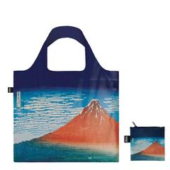 エコバッグ HOKUSAI/Fuji,Mountains in clear Weather ブルー LOQI(ローキー)