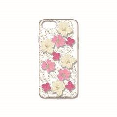 iPhone8/7/6s/6用 押し花ケース ピンク