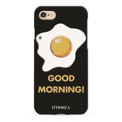 iPhone7/8ケース GOOD MORNING GLITTER