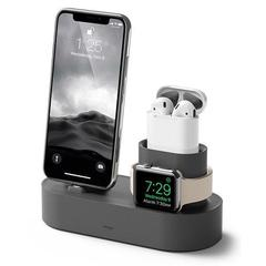 iPhone/AirPods/Apple Watch用 チャージングハブ3in1 ダークグレー エラゴ