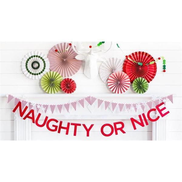 Naughty or Nice フェルトバナー